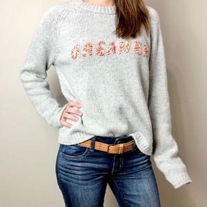 Madewell Cropped Dreamer Grey Crewneck Sweater